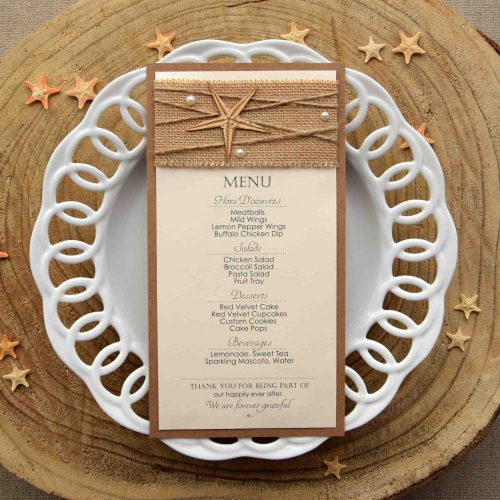 Destination Wedding Dinner Menu