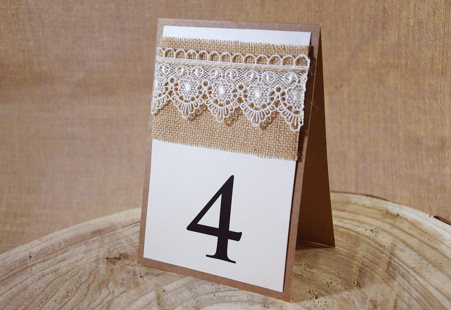 Rustic Chic Table Numbers