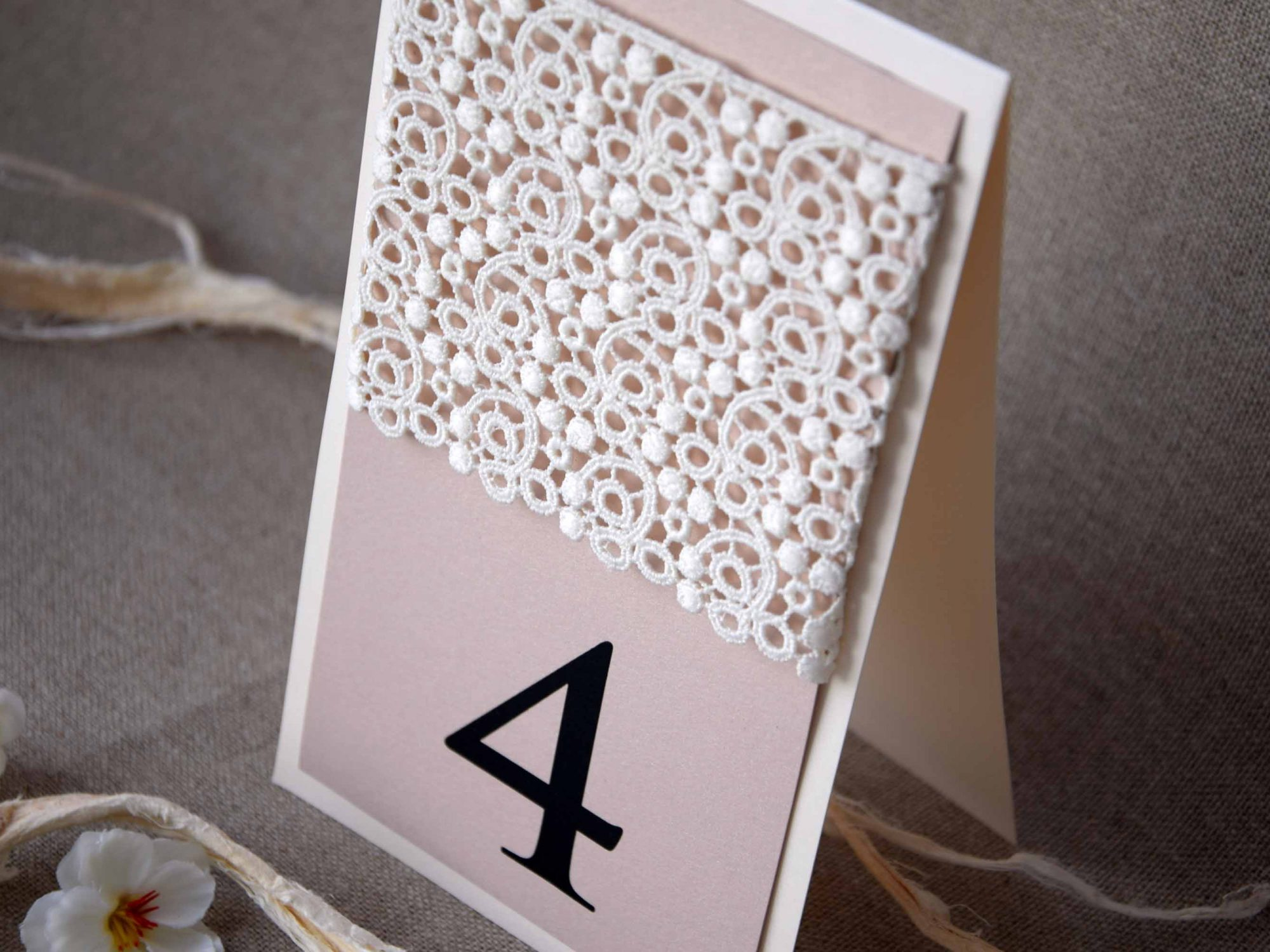 Large Wedding Lace Table Numbers