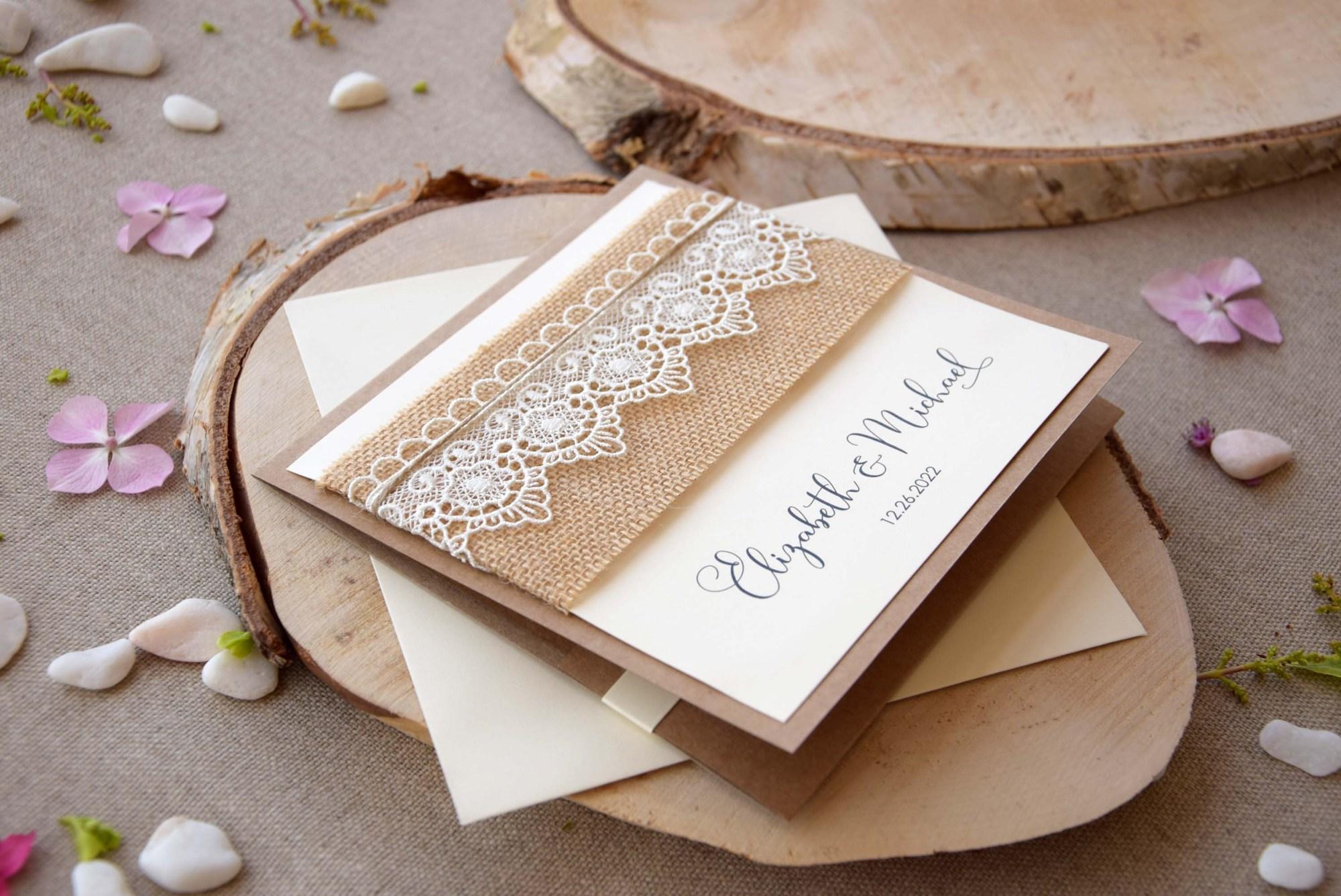 Rustic Lace Invitations