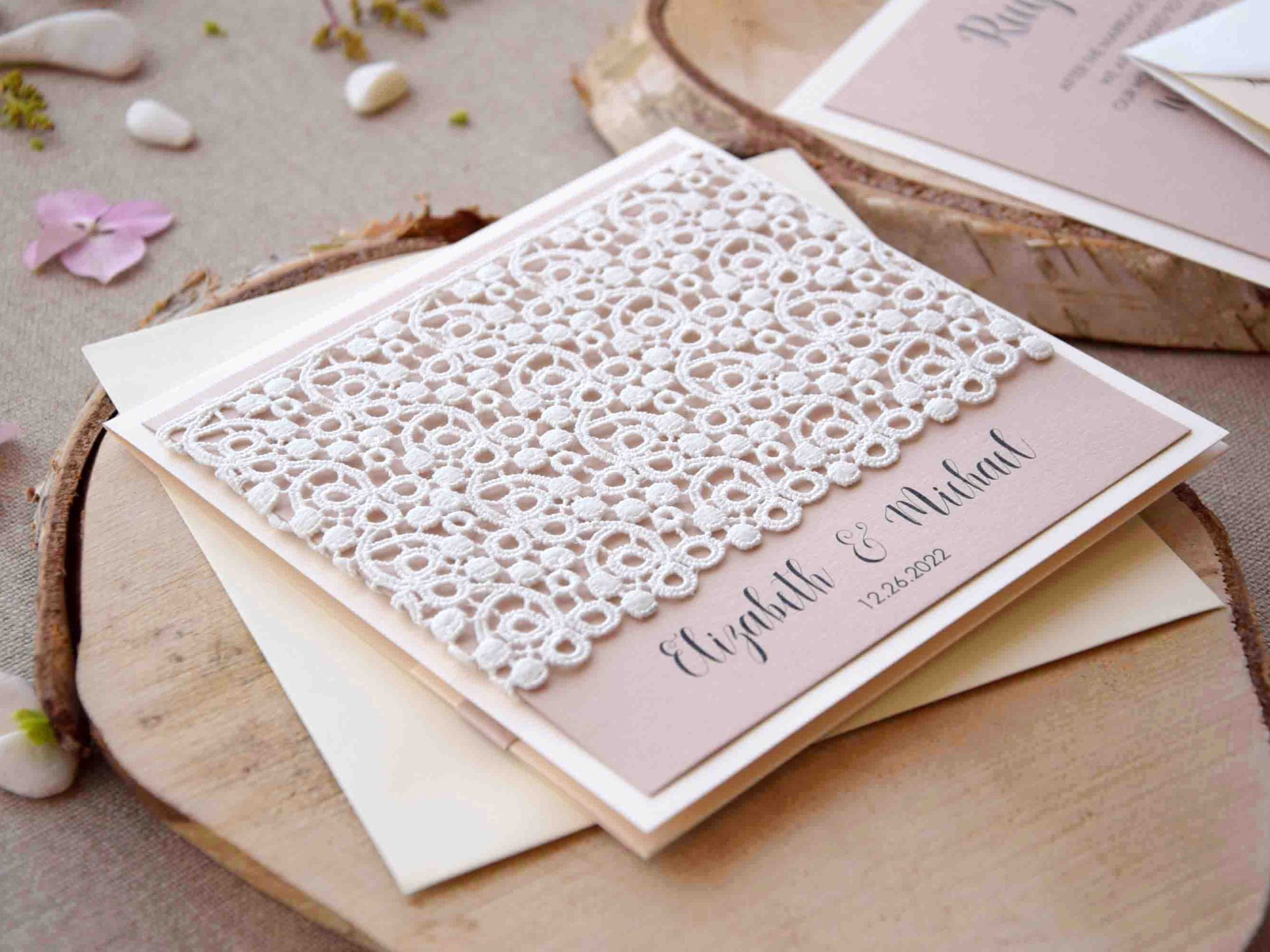 Ivory Lace Wedding Invitations