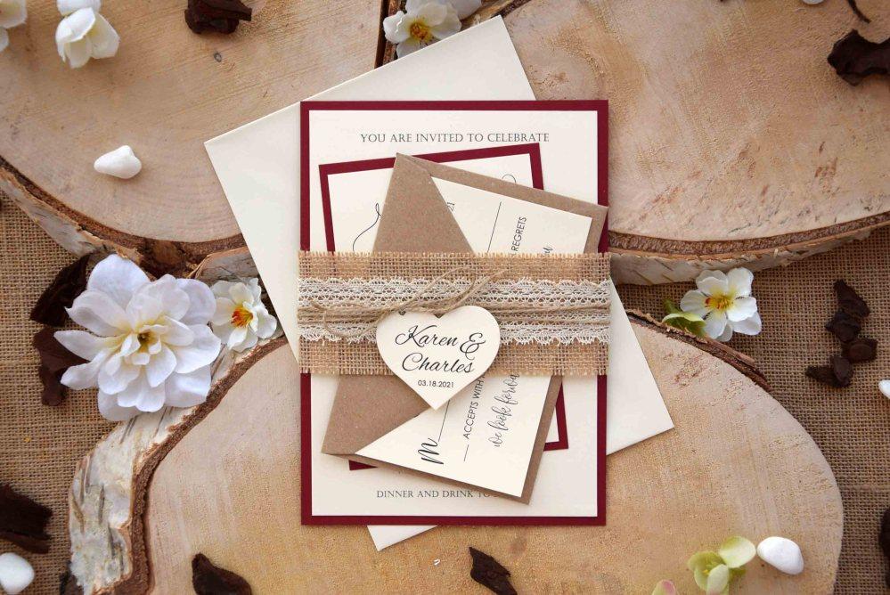 Rustic Fall Wedding Invitations