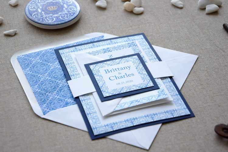 Portuguese Tile Wedding Invitations