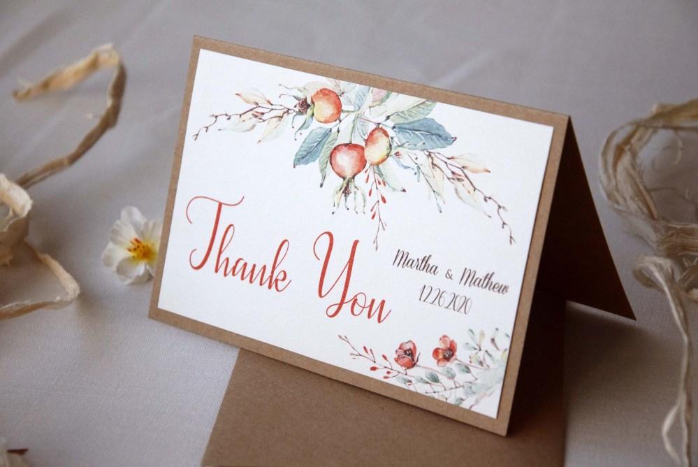Autumn Wedding Thank You Cards
