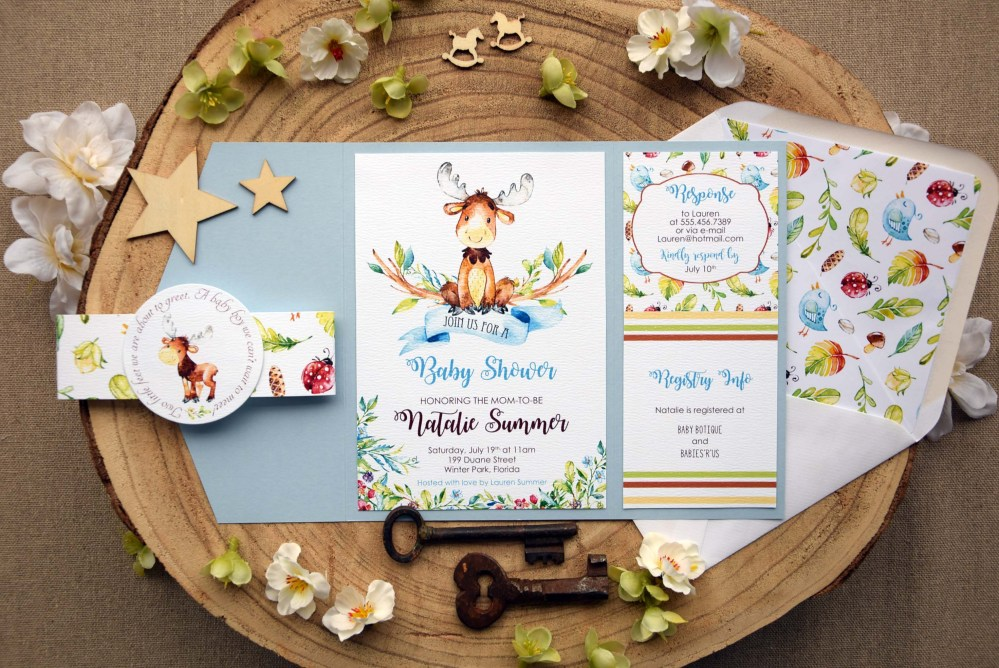 Baby Boy Baby Shower Invitations