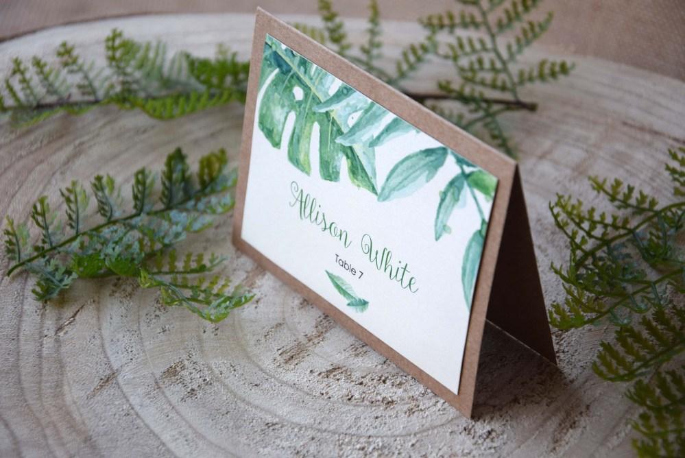 Botanical Wedding Place Cards