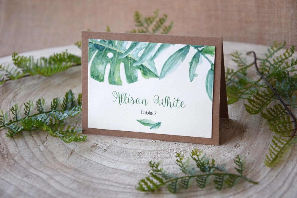Botanical Wedding Place Cards
