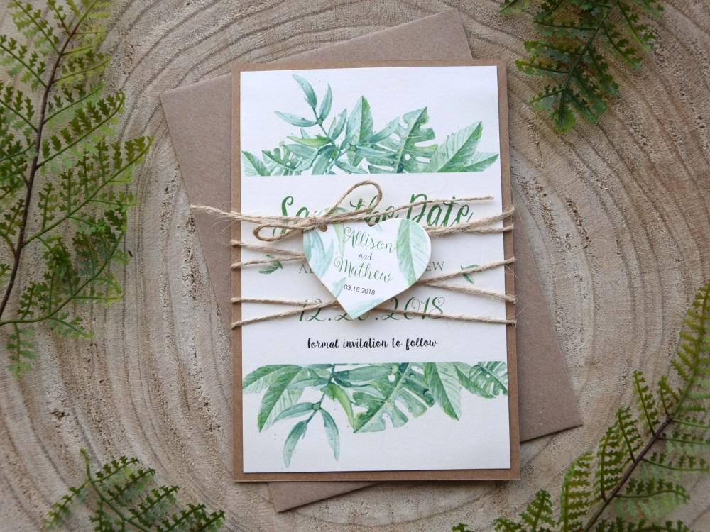 Greenery Wedding Save The Dates