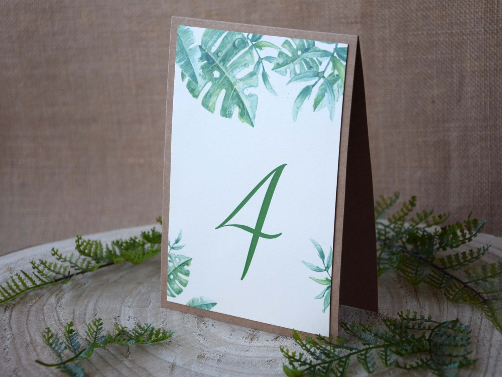 Botanical Wedding Table Numbers