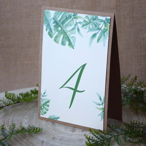 Botanical Wedding Table Numbers