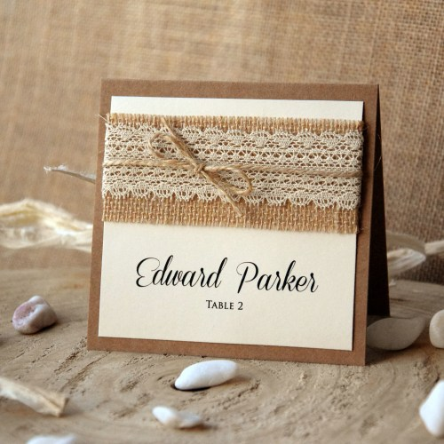 Rustic Wedding Place Cards