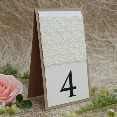 Large Rustic Lace Table Numbers