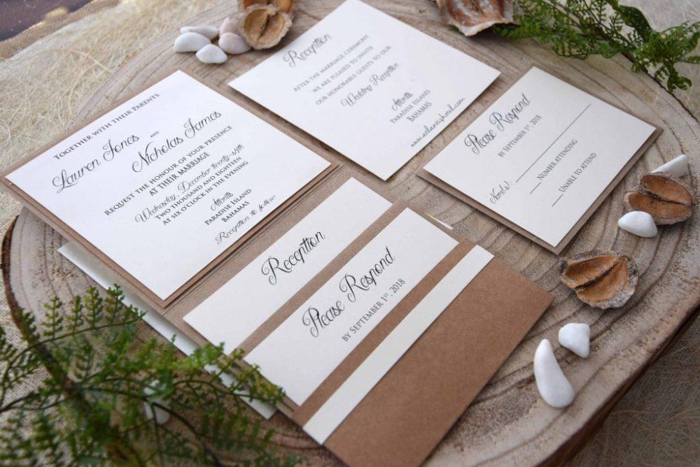 Custom Lace Wedding Invitations