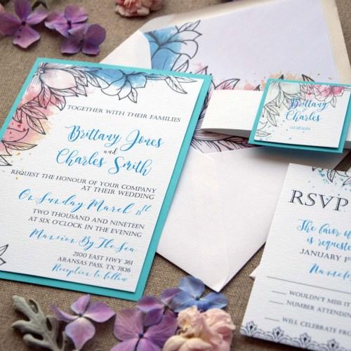 Modern Tiffany Wedding Invitations