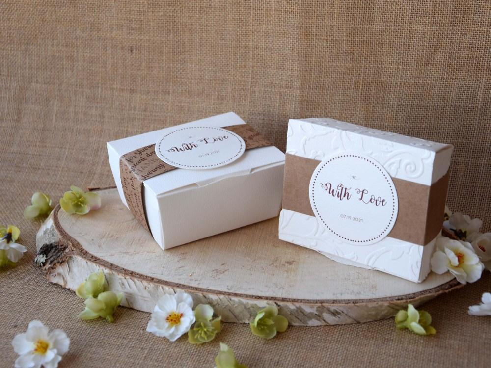 Square Elegant Party Favor Boxes