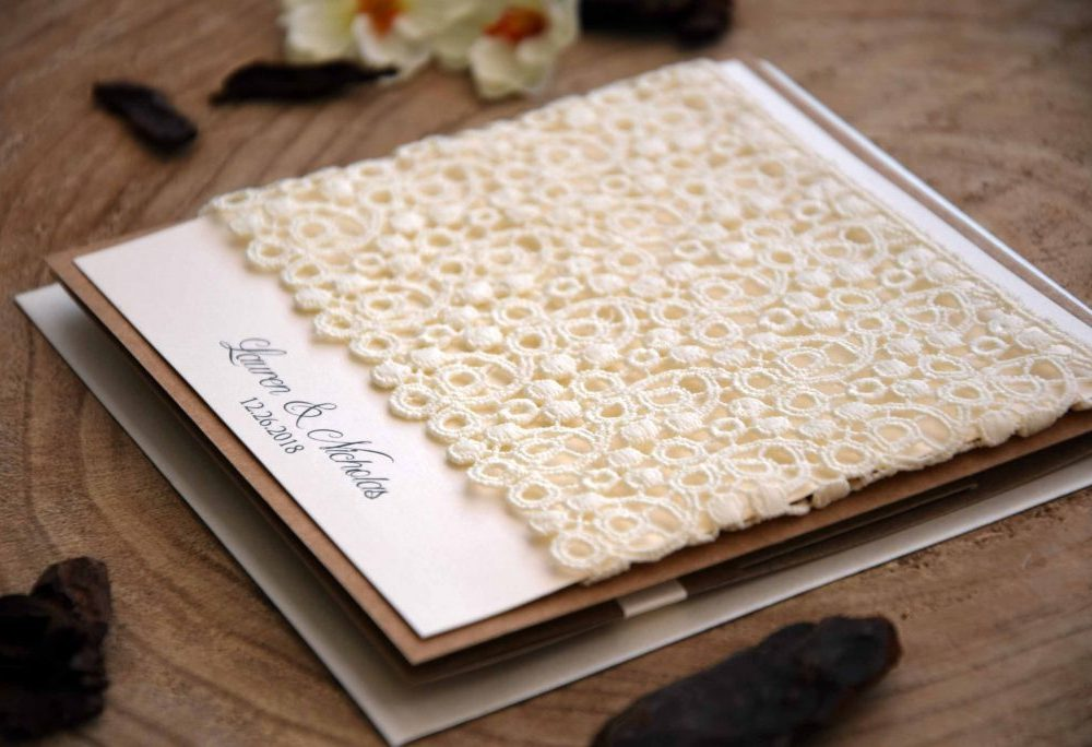 Lace Pocketfold Invites