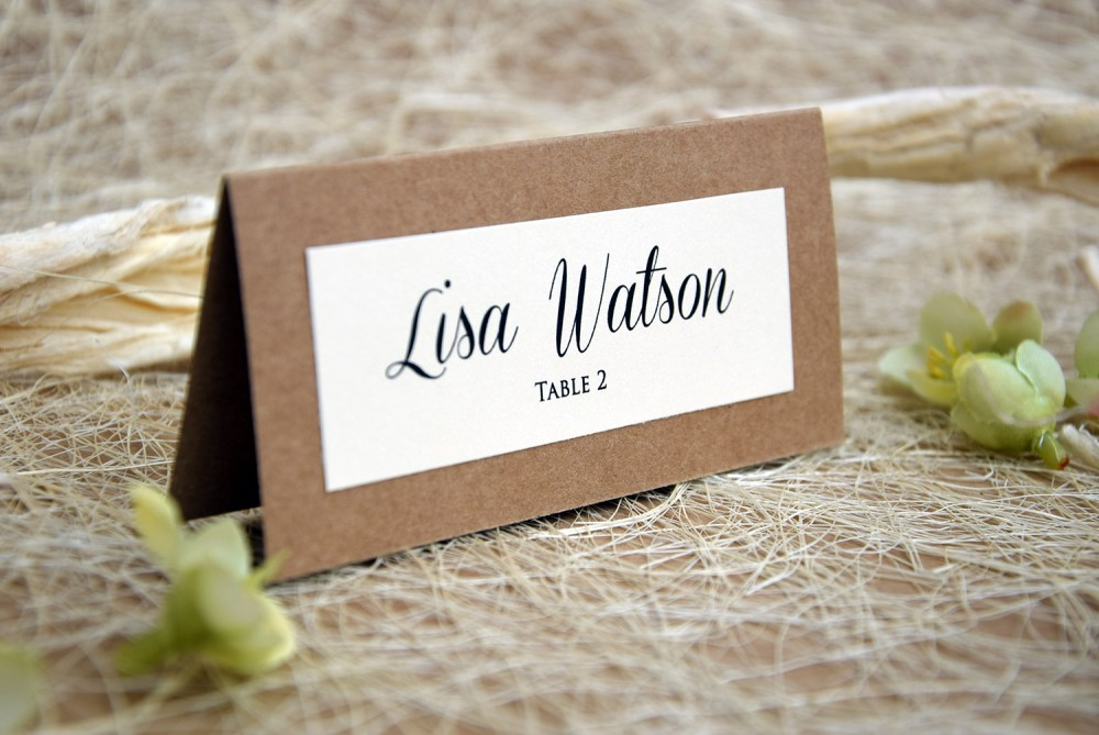simple wedding place cards - Wedding Place Cards