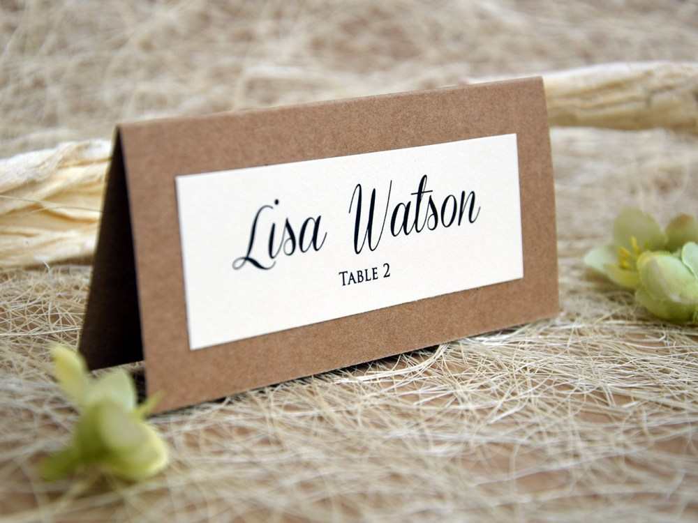 Simple Wedding Place Cards