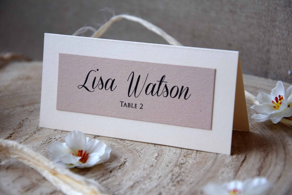 Simple Wedding Place Name Cards