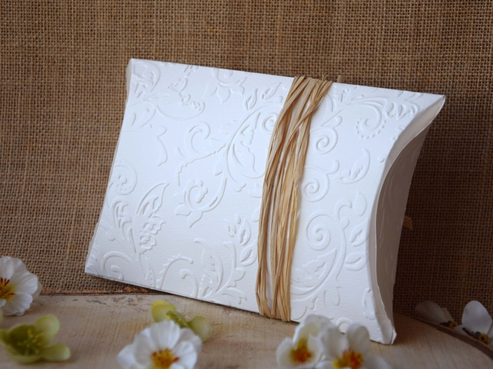 White Rustic Wedding Favor Boxes