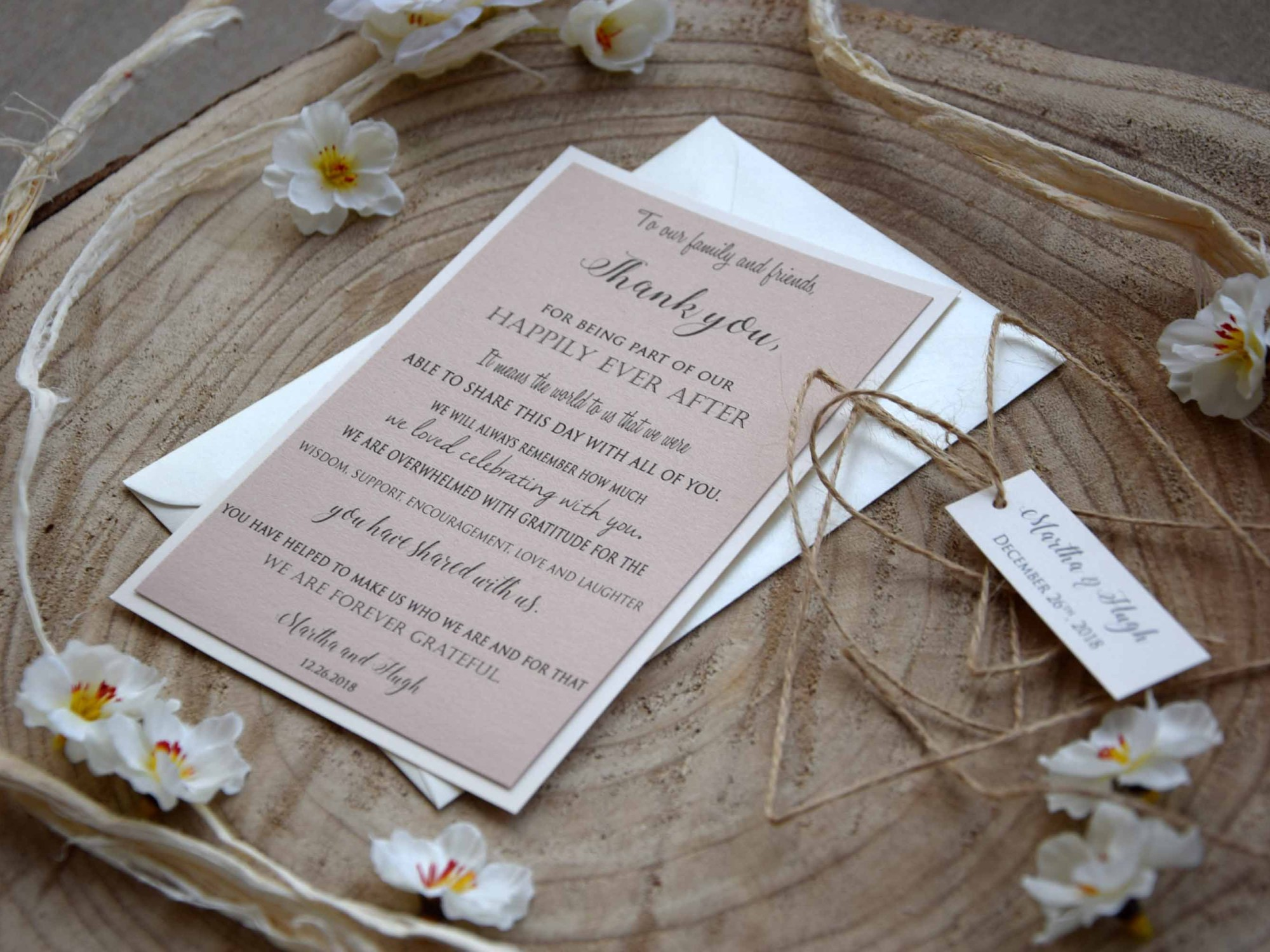 Elegant Wedding Thank You Cards