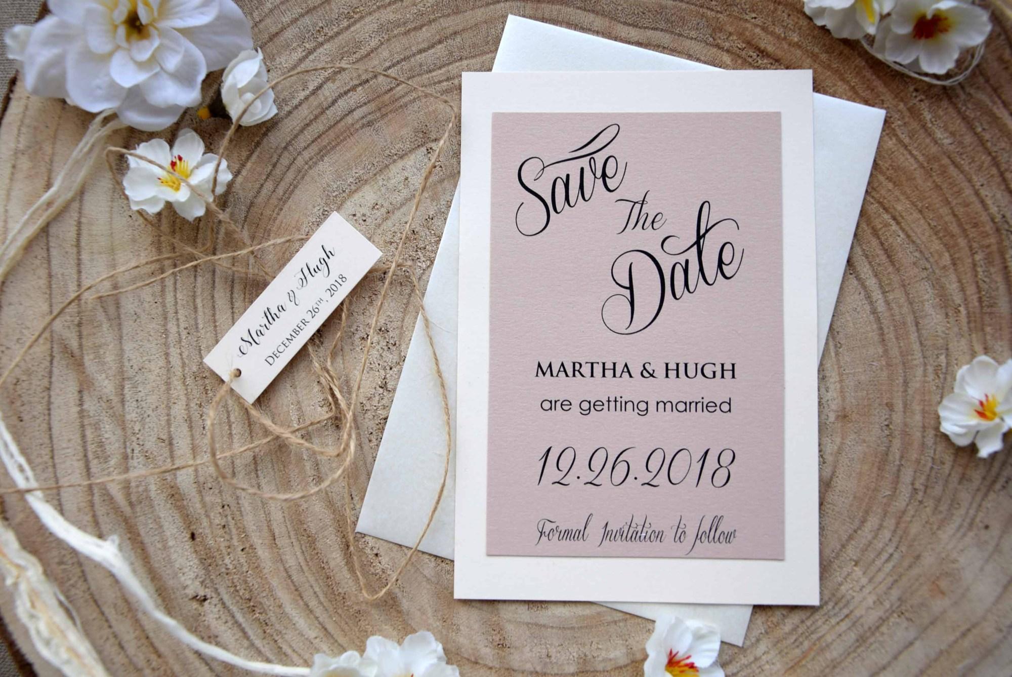 Elegant Wedding Save The Dates