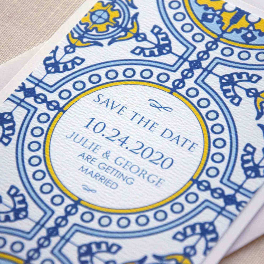 Tile Wedding Save the Dates