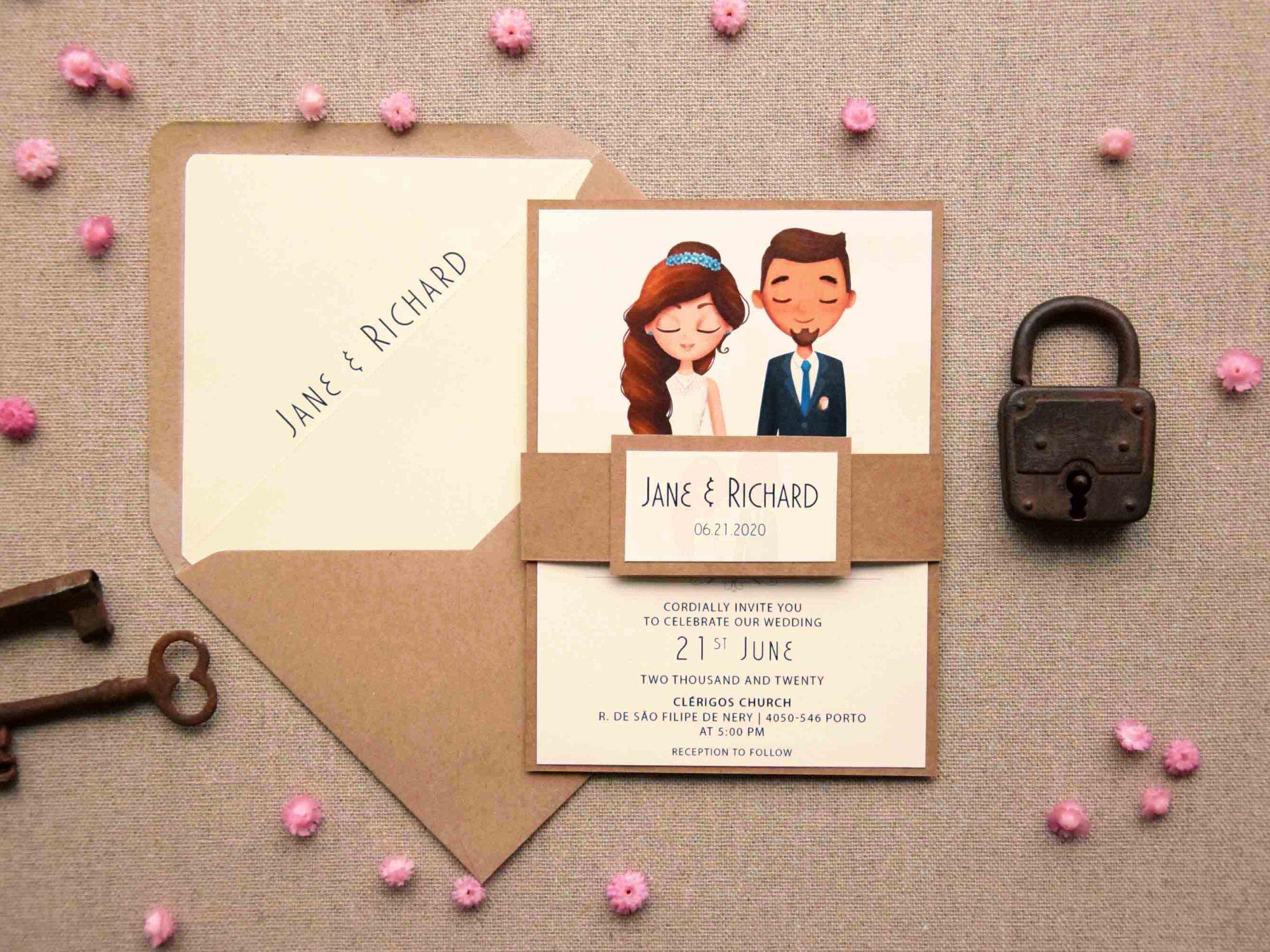Portrait Wedding Invitations