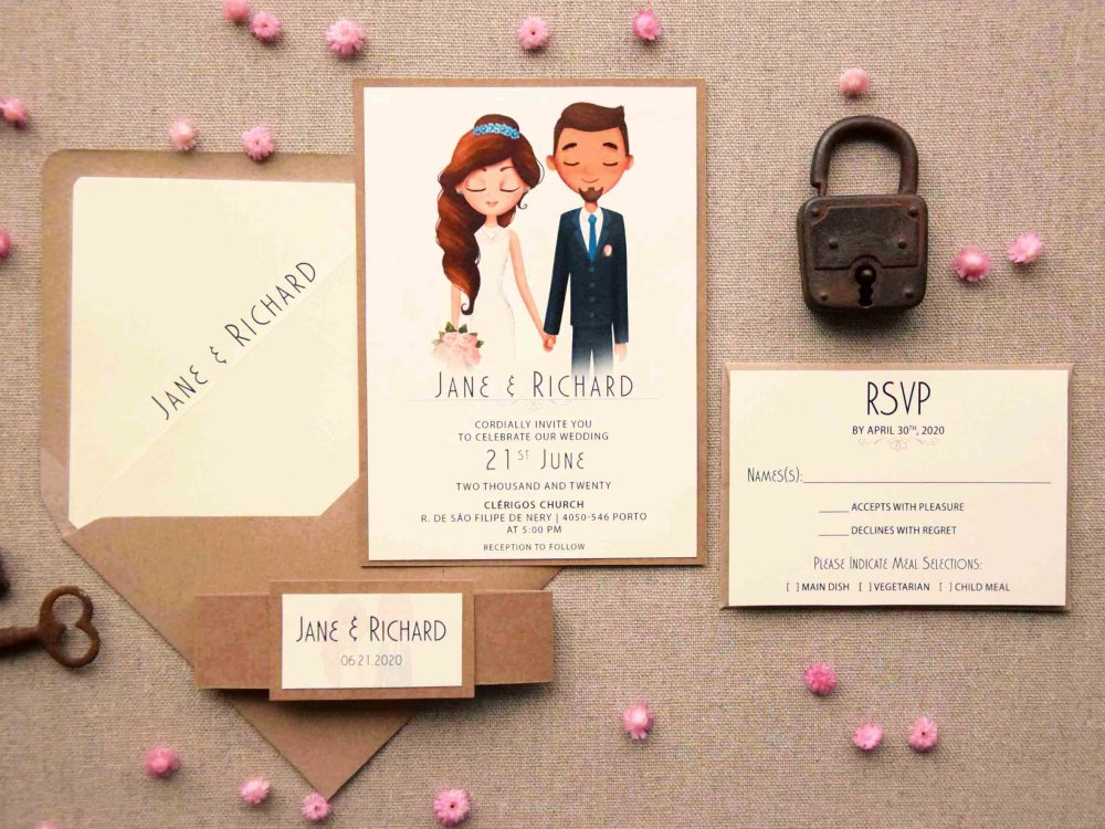 Portrait Wedding Invitations