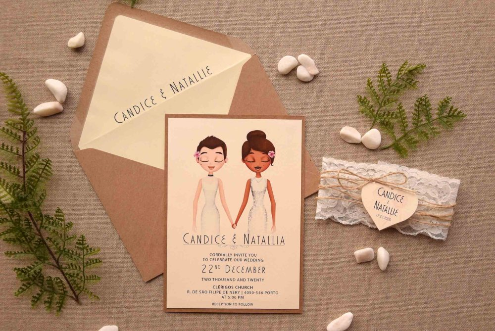 Rustic Lace Portrait Wedding Invitations