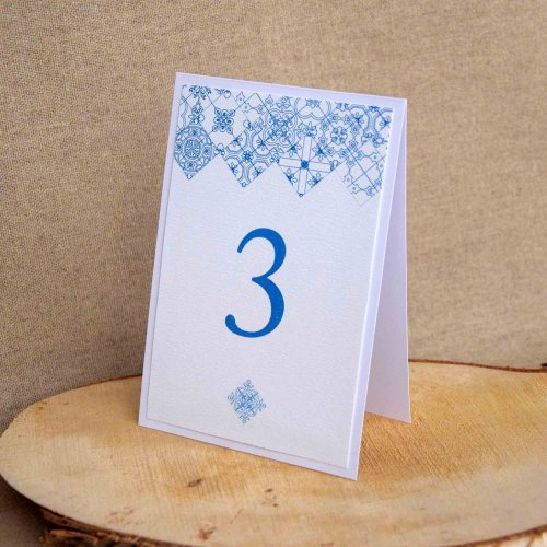 Portuguese Blue Tile Table Numbers