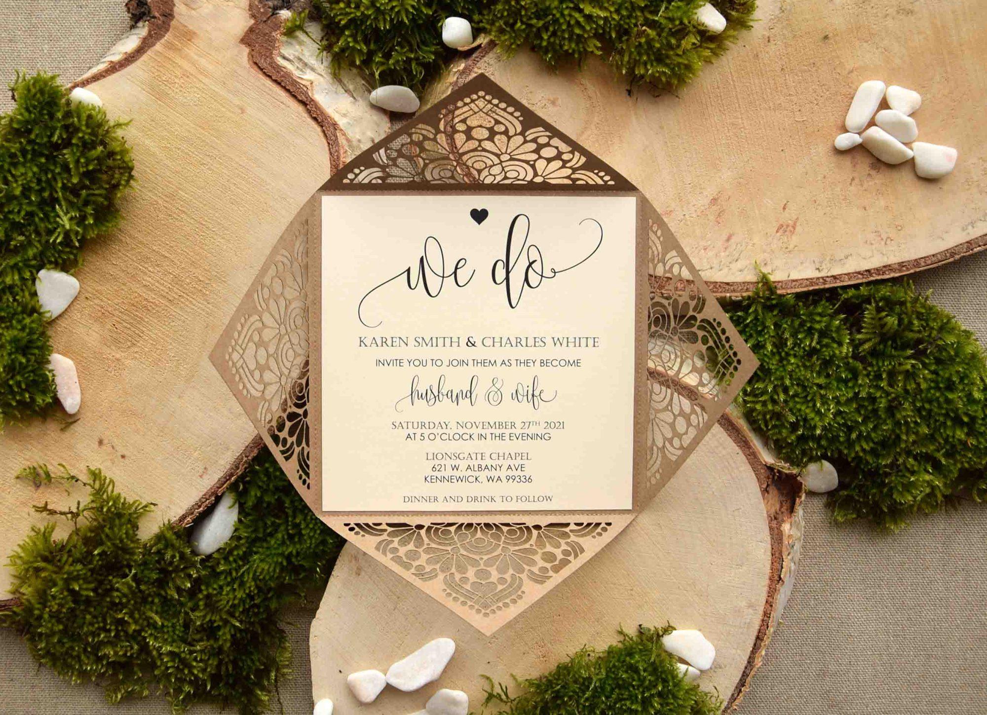 We Do Laser Cut Wedding Invitations