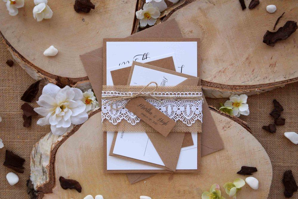 Country Rustic Wedding Invites