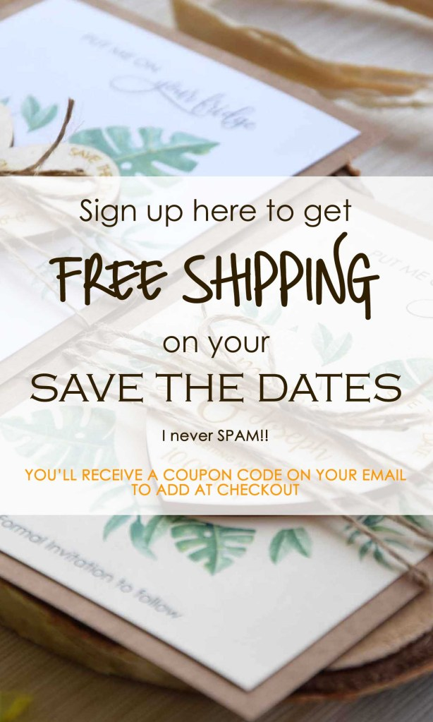 Free Shipping on Wedding Save the Dates