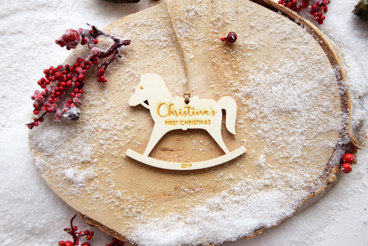 Horse First Christmas Ornament
