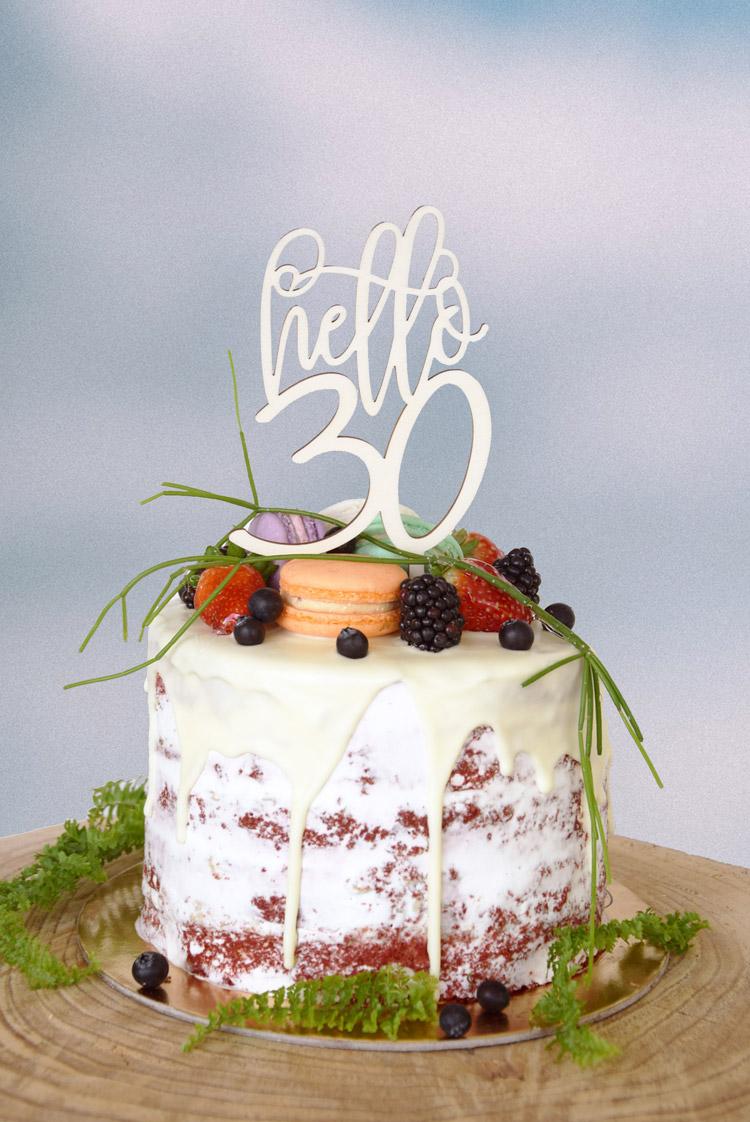 Hello Thirty Cake Topper