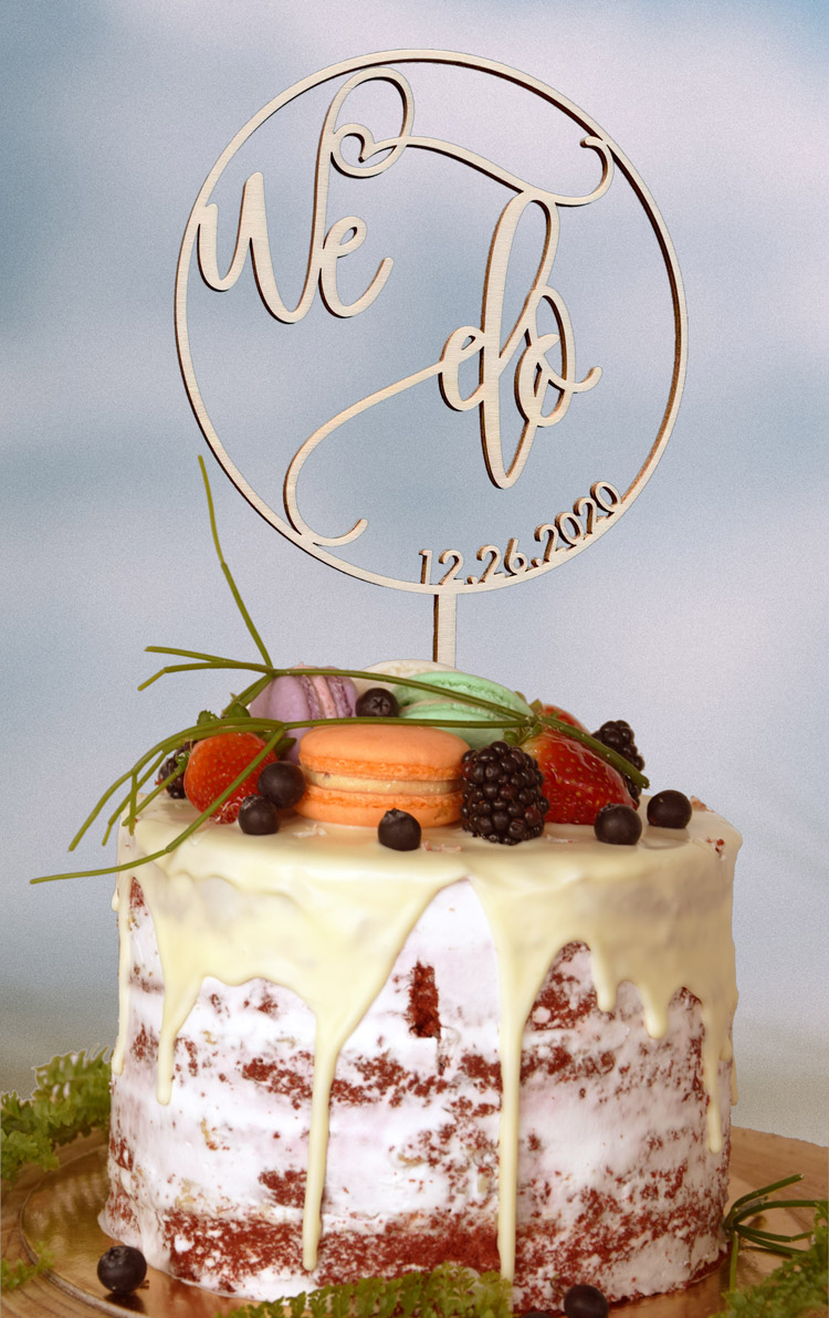 We Do Cake Topper