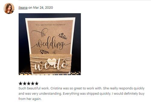 Review Ileana Rustic Wedding Invitations