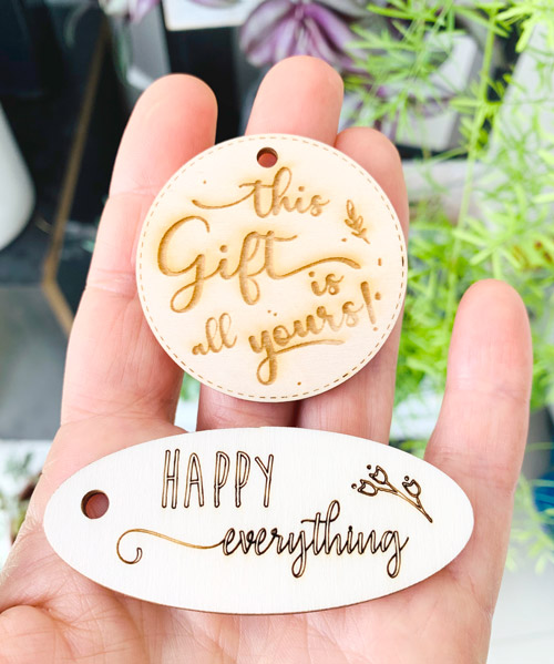 Laser Cutting Machine - Gift Wooden Tags - PaperStudioByC