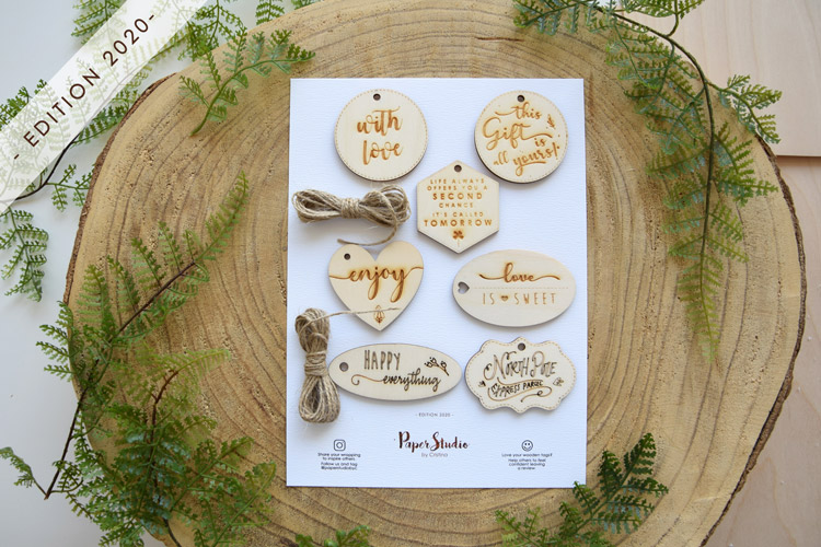 Laser-Cutting Wooden Gift Tags - Edition 2020