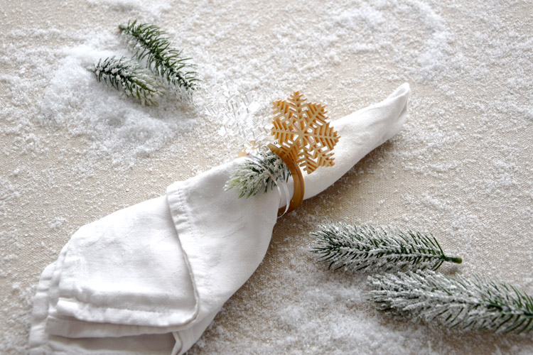 Snowflake Napkin Rings - Set of 6