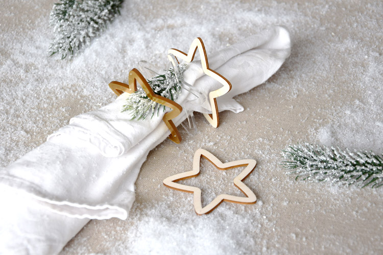 Five Point Stars Napkin Rings