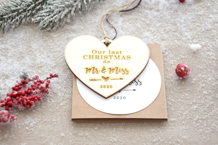 """Our Last Christmas as"" Christmas Ornament - Heart Shape"