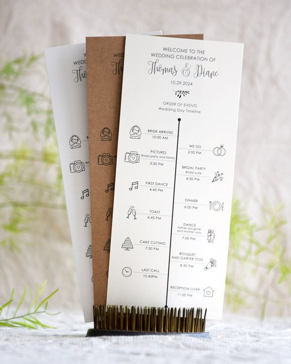 Rustic Simple Order of Events