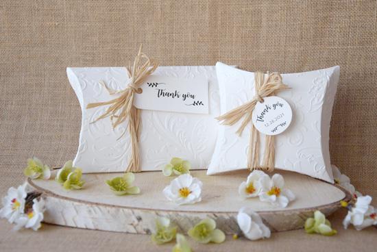 Wedding Favor Pillow Boxes