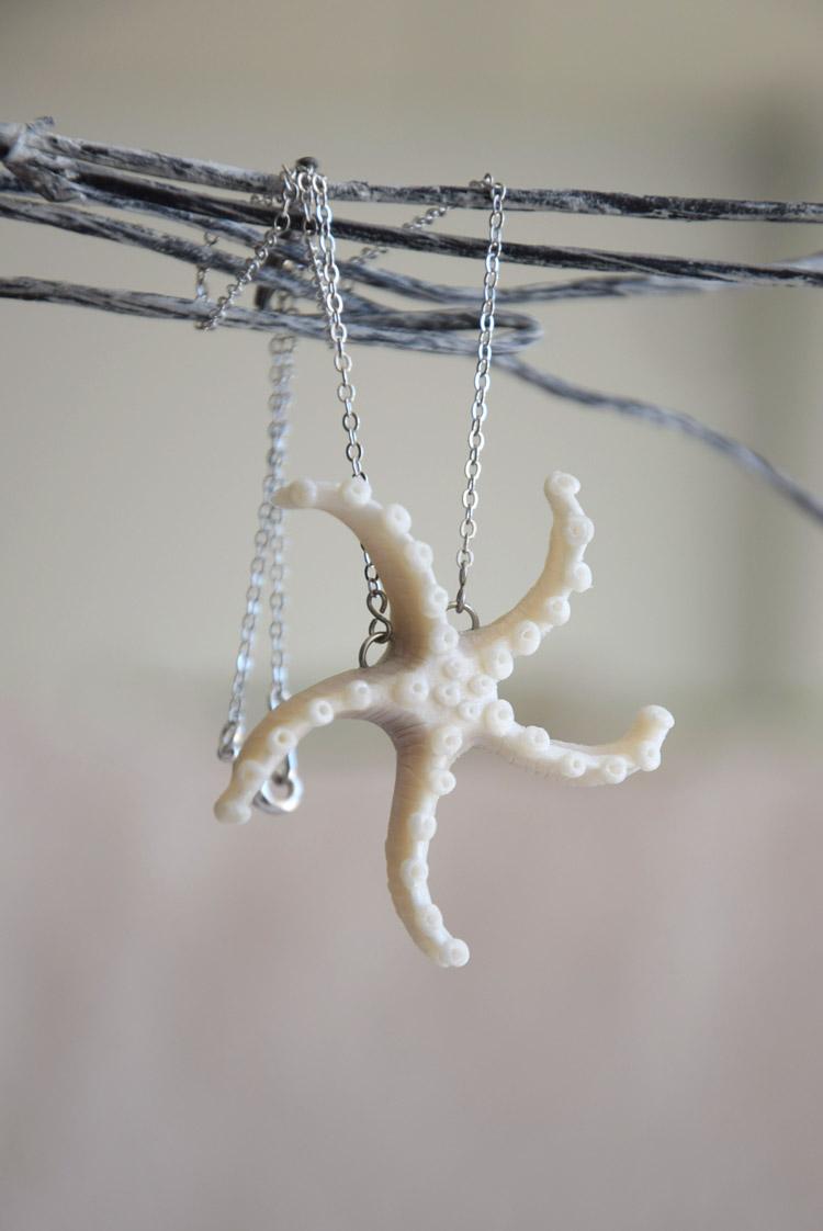 Pearl Starfish Pendant Bridal Necklace