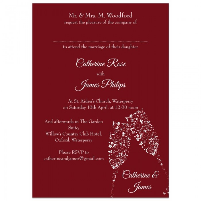 Champagne Flutes Wedding Invitations  Paper Themes