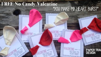 Free Balloon Valentine Printable {No Candy Valentine}