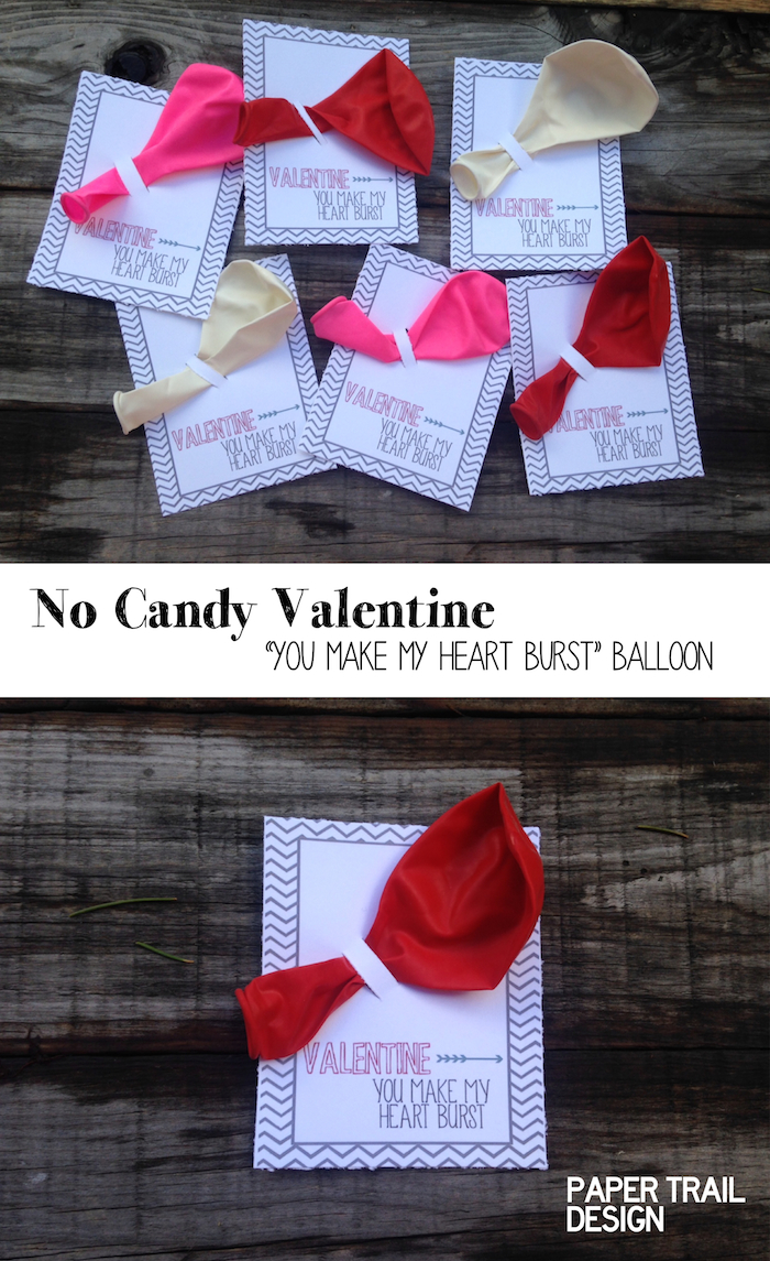 Free Balloon Valentine Printable No Candy Valentine