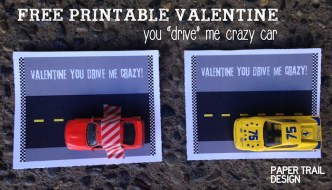 Free Printable Car Valentine Card
